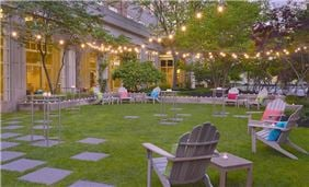 Seaport's Plaza Garden is a relaxing oasis