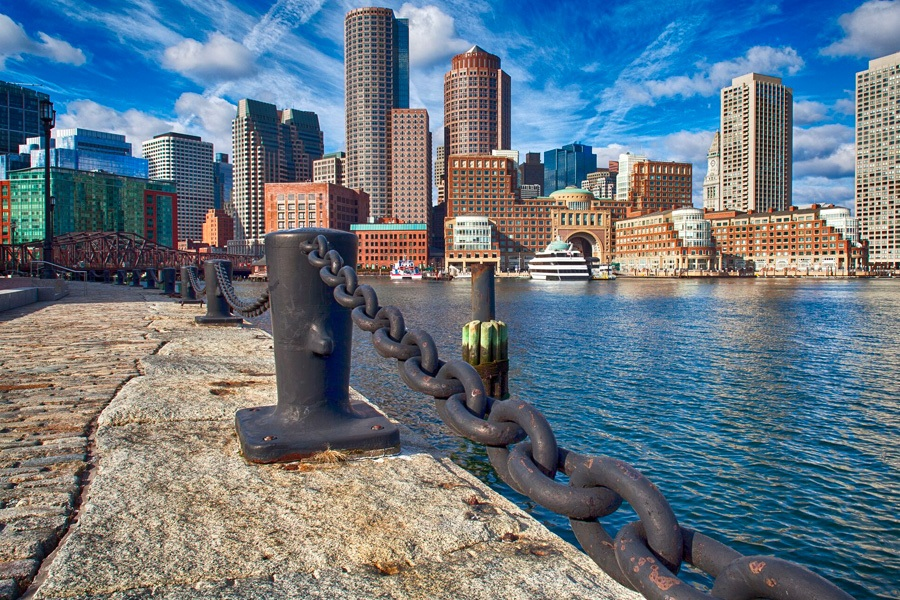 Boston Harborwalk in Massachusetts