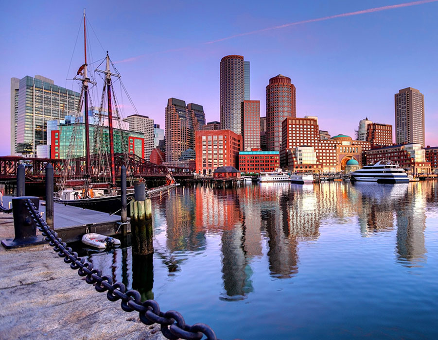Where is the Seaport District in Boston?