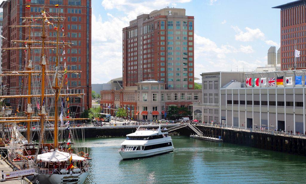 Location of Seaport Hotel & World Trade Center, Boston